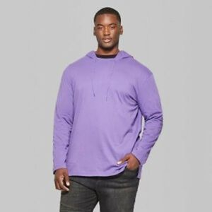 Original Use Mens Long Sleeve Hooded Shirt